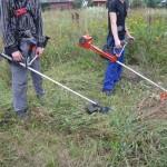 34 Покос травы, бурьяна 2) фото